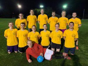Soccer team in yellow jerseys