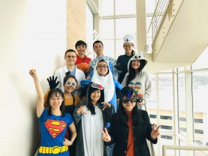 group of people in costumes
