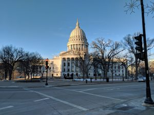 Capitol Building with blue sky