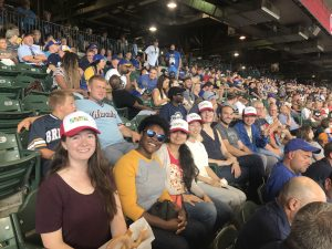 Group of people at a game