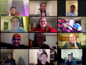 group of people at a virtual meeting